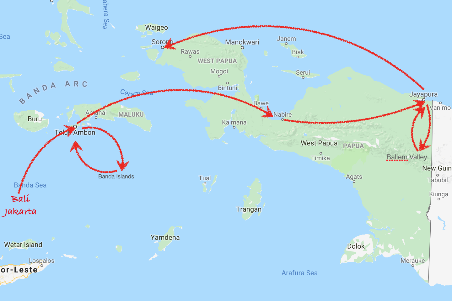 2 Weeks Itinerary West Papua